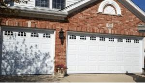 White Garage Door On House In Chicago