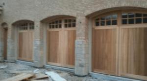 Wood Panel Garage Door Installation