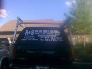 A&S Garage Doors Service Truck