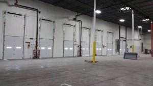 Garage Doors in large warehouse