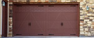 Wide Garage Doors Brick Wall Garage