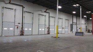 Garage Doors in large warehouse