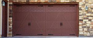 Wide Garage Doors Brick Wall Garage